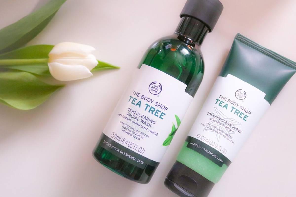 Tea Tree Waschgel und Peeling von The Body Shop - Abschminkroutine & Gesichtsreinigung (Part 2)