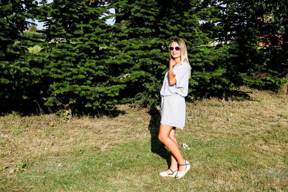Gestreiftes Hemdblusenkleid - luftig, bequem & cool